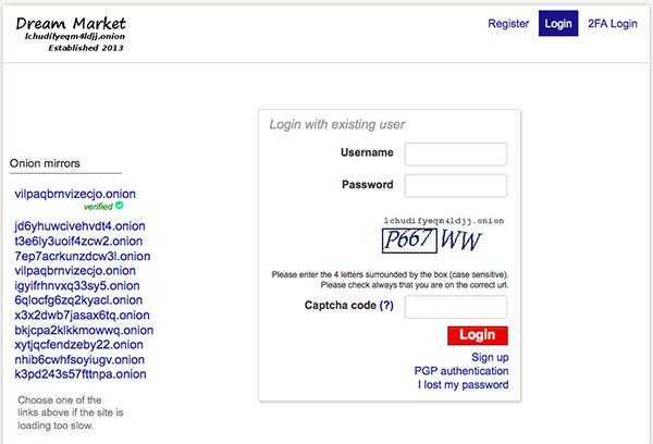 dream market homepage